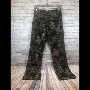 Free People Asian inspired floral satin pants s3-4